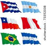 flags set 7. honduras  cuba ... | Shutterstock .eps vector #73352038