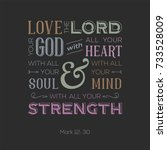 typography of bible quote for... | Shutterstock .eps vector #733528009