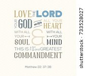 typography of bible quote for... | Shutterstock .eps vector #733528027