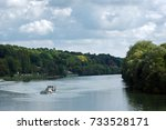 Sand Barge On Seine River In...