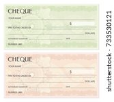 check  cheque   chequebook... | Shutterstock .eps vector #733530121