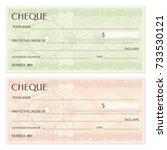 check  cheque   chequebook... | Shutterstock .eps vector #733530121