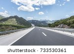 high speed country road among... | Shutterstock . vector #733530361