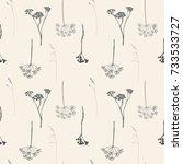 floral vector seamless pattern... | Shutterstock .eps vector #733533727