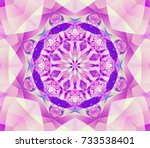 Abstract Kaleidoscope Lilac...