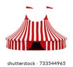 circus tent isolated. 3d... | Shutterstock . vector #733544965