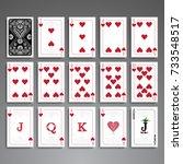poker cards full set four color ...   Shutterstock .eps vector #733548517