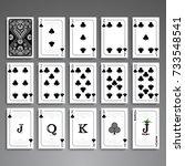 poker cards full set four color ...   Shutterstock .eps vector #733548541