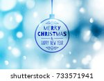 blurred christmas background... | Shutterstock .eps vector #733571941