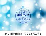 blurred christmas background... | Shutterstock .eps vector #733571941