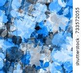 Blue Floral Seamless Backgroun...