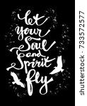 let your soul and spirit fly.... | Shutterstock .eps vector #733572577