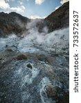 seltun geothermal area ... | Shutterstock . vector #733572637