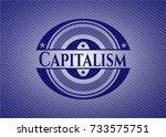 capitalism denim background | Shutterstock .eps vector #733575751