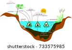 nutrient inputs to the lake | Shutterstock .eps vector #733575985
