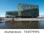 reykjavik  iceland   august 11  ... | Shutterstock . vector #733579591