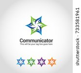 this is a star human logo... | Shutterstock .eps vector #733581961