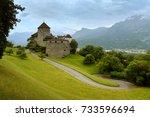 gutenberg castle in vaduz ... | Shutterstock . vector #733596694