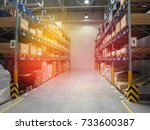 it is a warehouse of a large... | Shutterstock . vector #733600387