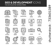 seo and app development. search ... | Shutterstock .eps vector #733601389