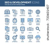 seo and app development. search ... | Shutterstock .eps vector #733601407