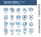 communication. social media.... | Shutterstock .eps vector #733601431