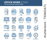 business and office work.... | Shutterstock .eps vector #733601671