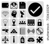 set of 22 business high quality ... | Shutterstock .eps vector #733610329