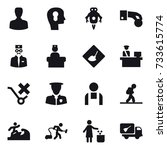 16 vector icon set   man  bulb...   Shutterstock .eps vector #733615774