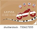 motorcycle logo made from the...   Shutterstock .eps vector #733617355