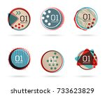 set of flat sale banners.... | Shutterstock .eps vector #733623829