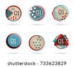 set of flat sale banners.... | Shutterstock .eps vector #733623829