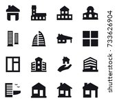 16 vector icon set   home ... | Shutterstock .eps vector #733626904