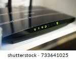 dual band wifi router indication | Shutterstock . vector #733641025