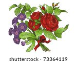 flower bouquet vector | Shutterstock .eps vector #73364119