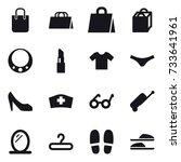 16 vector icon set   shopping...   Shutterstock .eps vector #733641961