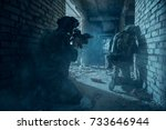 special forces soldiers in... | Shutterstock . vector #733646944