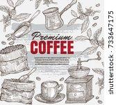 Vintage Hand Drawn Coffee...