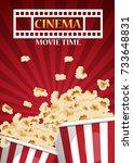 movie cinema poster design.... | Shutterstock .eps vector #733648831