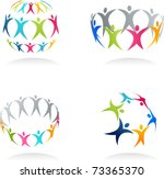 together   conceptual human... | Shutterstock .eps vector #73365370