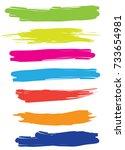 color banner brush vector | Shutterstock .eps vector #733654981