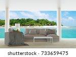beach living room   beach... | Shutterstock . vector #733659475
