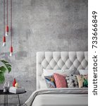 interior of white and gray cozy ... | Shutterstock . vector #733666849