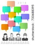 2018 creative people and speech ...   Shutterstock . vector #733688395