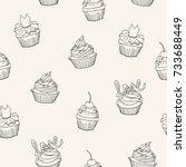 vector line seamless pattern.... | Shutterstock .eps vector #733688449