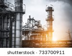 close up industrial zone. plant ... | Shutterstock . vector #733700911