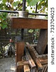 Small photo of wooden press for pressing grapes