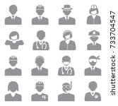 people icons. gray flat design. ... | Shutterstock .eps vector #733704547