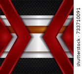 vector of abstract metallic... | Shutterstock .eps vector #733710091