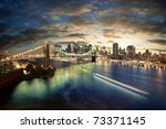 amazing new york cityscape  ... | Shutterstock . vector #73371145